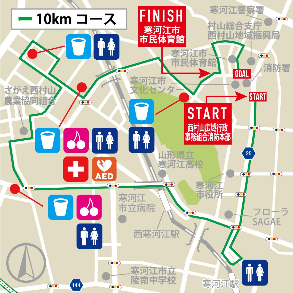 コースマップ(10km)